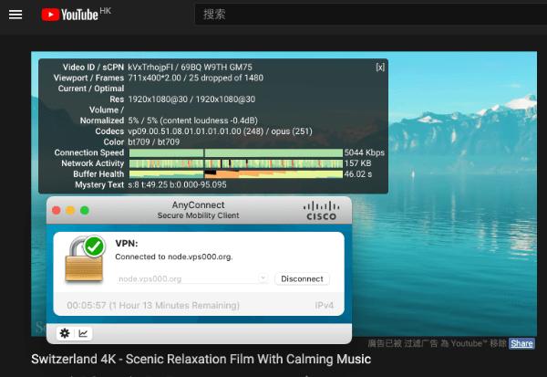 香港的YouTube看看4K视频