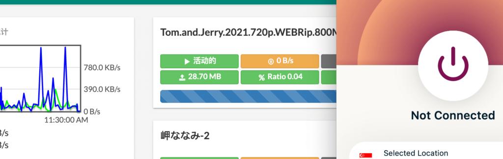 没有使用VPN前的Aria2下载
